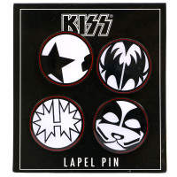 KISS Mulit Face Lapel Pin Set