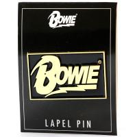 David Bowie Rectangle Logo Lapel Pin
