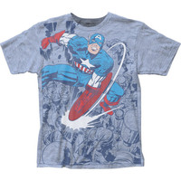 Marvel Captain America Captain Fighting Slim Fit T-Shirt
