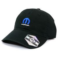 Mopar Omega M Logo Heavy-Washed Strapback Dad Hat