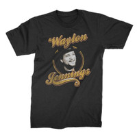 Waylon Jennings Head Shot T-Shirt