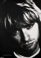 "Kurt Cobain Face Fabric Poster 30"" x 40"""