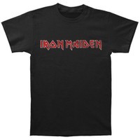 Iron Maiden Distressed Logo T-Shirt Black