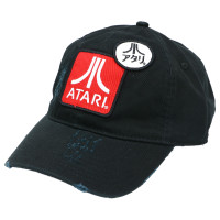 Atari Lo Profile Distressed Heavy-Washed Strapback Dad Hat