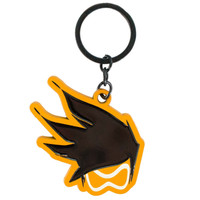 Overwatch Tracer Face Video Game Charm Keychain