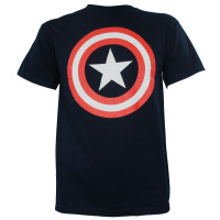 Captain America T-Shirt - 80's Shield Logo