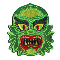 Retro A Go Go Fish Face Freak Embroidered Patch