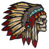 Retro A Go Go Chief of The Dead Embroidered Patch