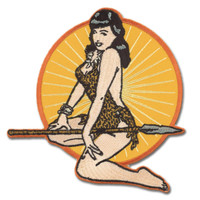 Bettie Page Jungle Girl Embroidered Patch