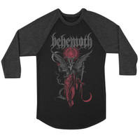 Behemoth Gabriel Raglan Baseball T-Shirt Black Gray