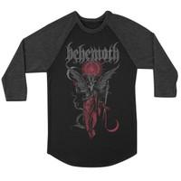 Behemoth Gabriel Raglan Baseball T-Shirt Black Gray