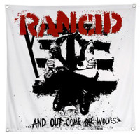 Rancid And Out Come The Wolves Fabric Poster Flag White