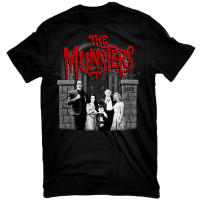 Universal The Munsters Family Portrait with Red Logo T-Shirt