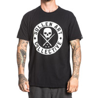 Sullen BOH Solid T-Shirt Black White