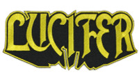 "Lucifer Logo Embroidered Patch 5"" x 2"""