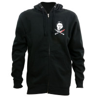 Halloween Michael Myers Crossed Knives Zip Up Hoodie
