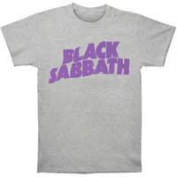 Black Sabbath Purple Logo Slim-Fit T-Shirt Grey