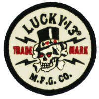 LUCKY 13 Old Topper Embroidered Sew On Or Glue On Patch