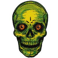 Kreepsville 666 Staring Skull Embroidered Patch