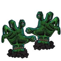 Kreepsville 666 Horror Hands Embroidered Patch Pair
