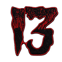 Kreepsville 666 Unlucky 13 Red Embroidered Patch