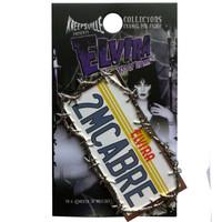 Kreepsville 666 Elvira License Plate Enamel Pin