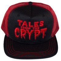 Kreepsville 666 Tales From The Crypt Red Snapback Trucker Hat