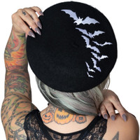 Kreepsville 666 Bat Repeat Beret Hat