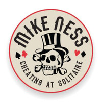 Mike Ness Cheating At Solitaire Enamel Pin