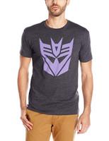 Transformers Decepticon Logo Slim-Fit T-Shirt Heather Black