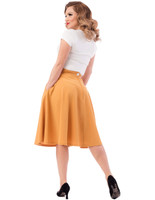 Steady Clothing Women's Pocket Thrills High Waist Skirt Mustard