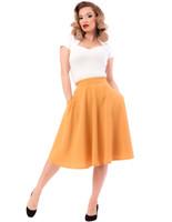Steady Clothing Women's Pocket Thrills High Waist Skirt Mustard