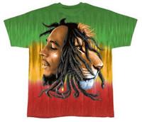 Bob Marley Profiles Tie Dye T-Shirt