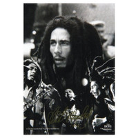 "Bob Marley BW Collage Fabric Poster 30"" x 40"""