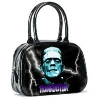 Universal Blue Frankenstein Vinyl Bowler Handbag