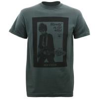 Bob Dylan Guitar Photo Slim-Fit T-Shirt Charcoal