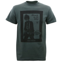 Bob Dylan Guitar Photo Slim-Fit T-Shirt Charcoal