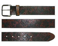 Lucky 13 High Roller Leather Belt Antiqued