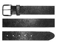 Lucky 13 High Roller Leather Belt Black