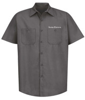 Lucky 13 Winged Skully Work Shirt Charcoal