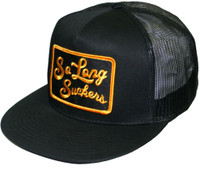 Lucky 13 So Long Suckers Mesh Snapback Trucker Hat Black