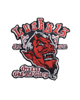 Lucky 13 Grease Gas And Glory Embroidered Patch