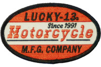 Lucky 13 Moto 13 Embroidered Patch