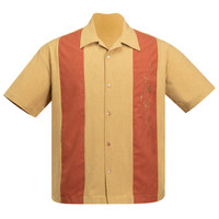 Steady Clothing Mid Century Marvel Bowling Shirt Mustard