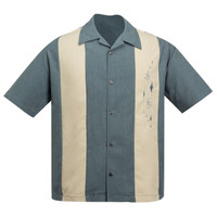Steady Clothing Mid Century Marvel Bowling Shirt Charcoal