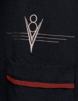 Steady Clothing V8 Classic Button Up Bowling Shirt Black Rust