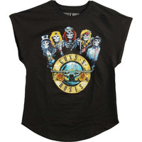 Guns N Roses Bullet Band Juniors Sleeveless T-Shirt