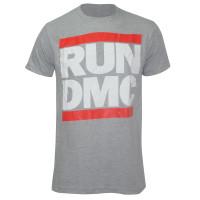 RUN DMC Logo Slim-Fit T-Shirt Grey