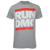 RUN DMC Logo Slim-Fit T-Shirt Grey