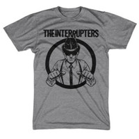 The Interrupters Suspenders Slim-Fit T-Shirt Heather Grey